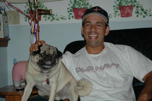 Chris Simon with Lacy